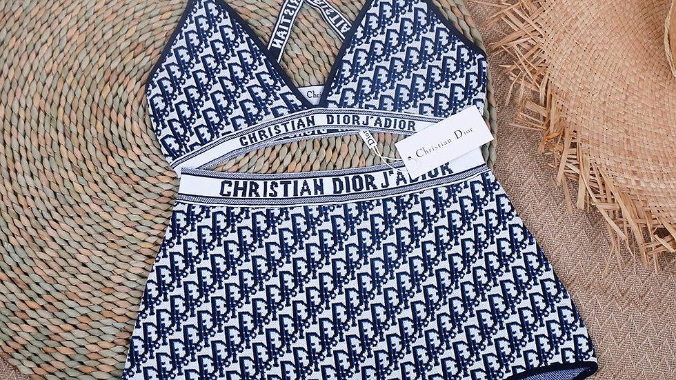 Pretty Christian Dior High-Waist Bikini