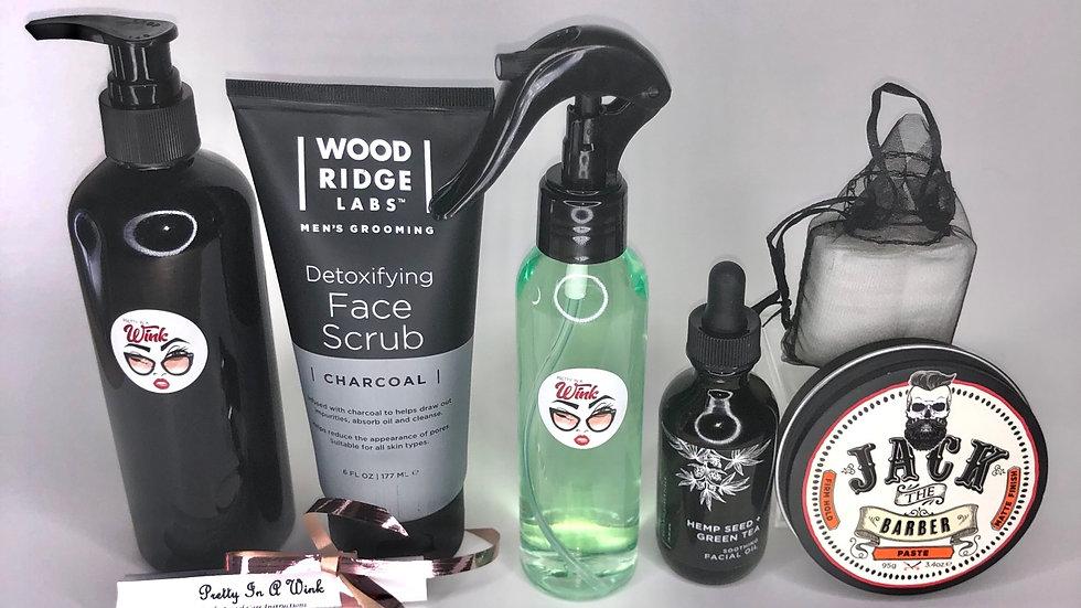 Pretty Handsome Charcoal & Hemp Skin Kit