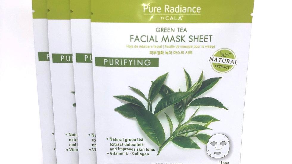 Green Tea Sheet Mask (4 Pack)