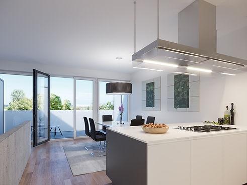 Blaupark Küche und Esszimmer