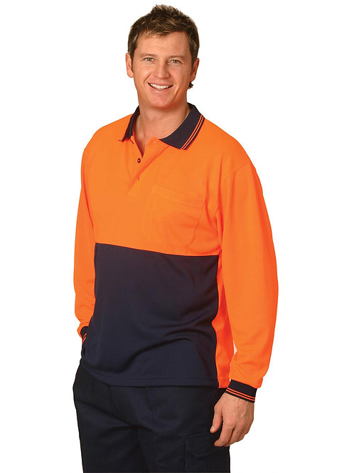 Cool Dry L/Sleeve Hi-Vis Polo