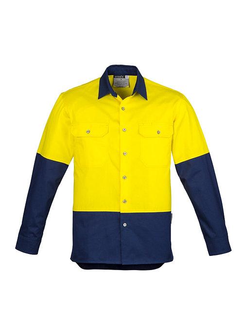Mens Hi Vis Mid Weight L/S Shirt
