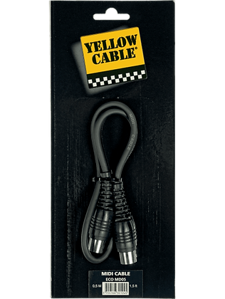 Cable Midi 0.5m Yellow Cable
