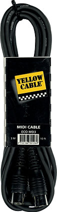Cable Midi 3m Yellow Cable