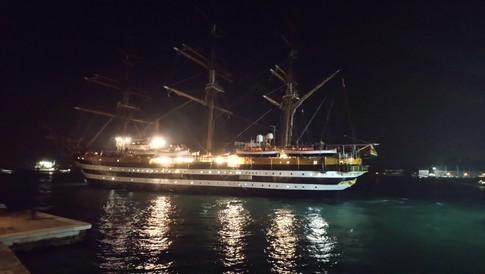 Amerigo comes into port