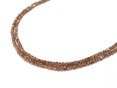 crystal glass rondelle rose gold beads 2.5mm