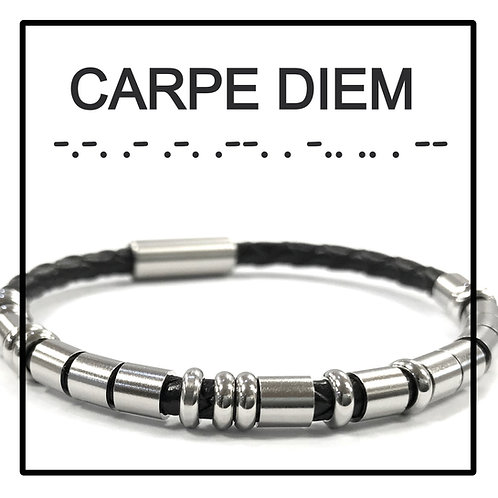 CARPE DIEM - Morse Code Message Bracelet