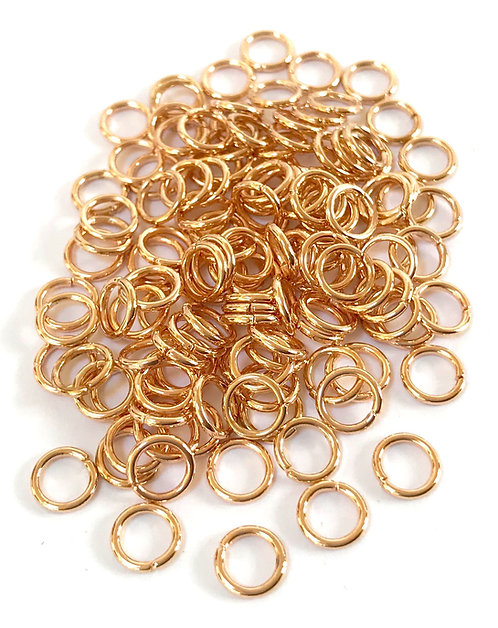 6mm Jump Rings - Rose Gold Plated