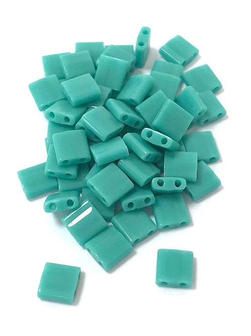 Miyuki Tila Beads - Opaque Turquoise Green