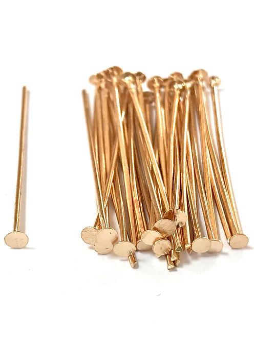 rose gold head pins 3cm