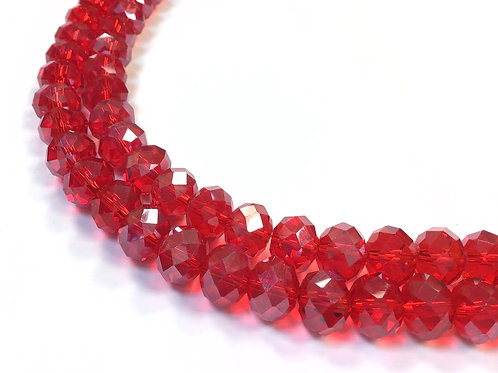red crystal glass beads