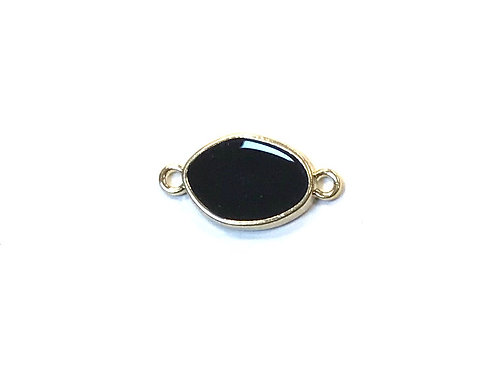 Black Resin Connector, Light Gold