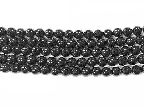 8mm Agate Beads - Black