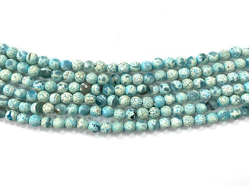 6mm Agate Beads - Pastel Turquoise