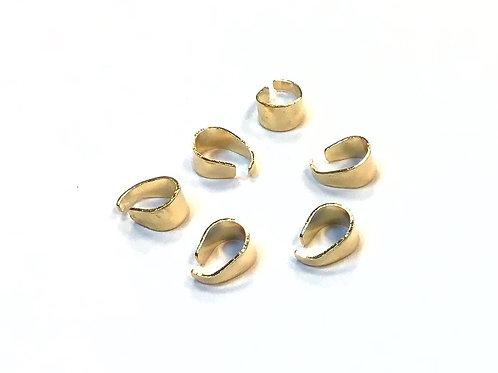 Light Gold Pinch Bails - 7 x 5mm