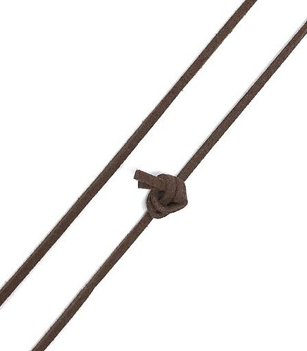 Faux Suede Cord 100cm - Brown