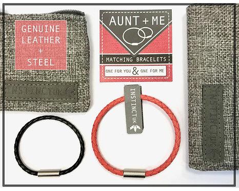 AUNT + ME  Aunt/Niece - Nephew Matching Leather Bracelets