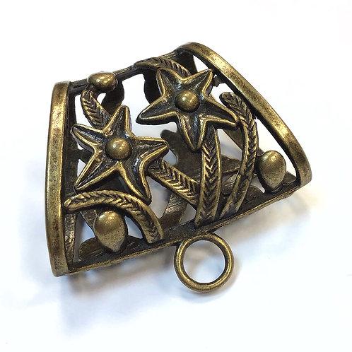 Bronze Scarf Bail Bead - 40 x 37mm