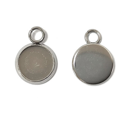 Stainless Steel Jewellery Setting - Fits 8mm