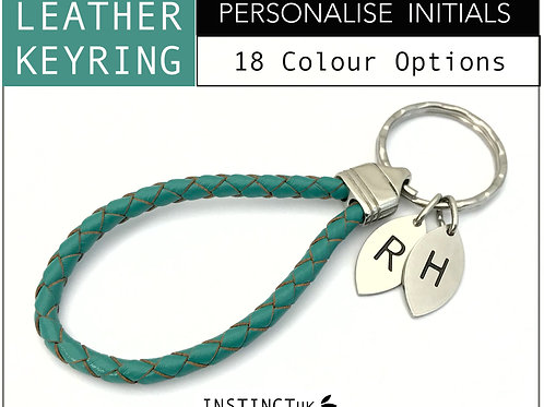 Personalised Leather Keyring   For Him and Her