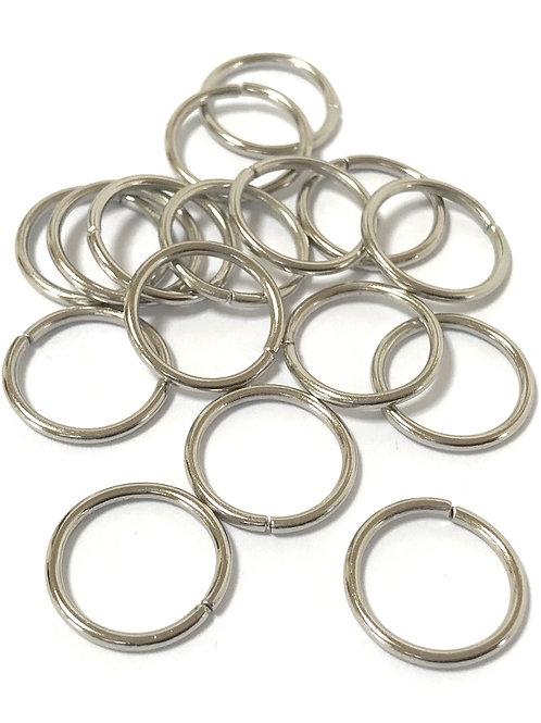16mm Jump Rings - Silver Tone
