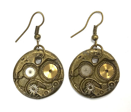 Bronze Mechanism Earrings