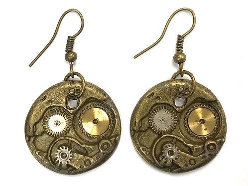 Bronze Mechanism Earrings