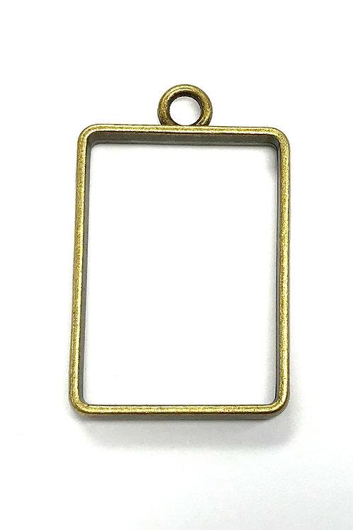 Rectangle Bezel Frame Setting Inner: 18 x 27mm - Bronze