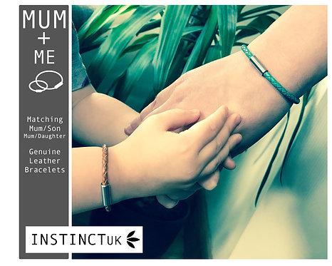 MUM + ME  Mum/Son, Mummy/Daughter Matching Leather Bracelets
