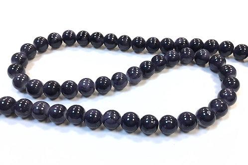 Glass Beads, Slate Blue - 8mm