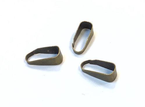 Bronze Pinch Bails - 11 x 4mm