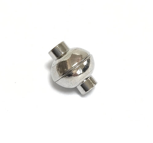 Silver Tone Magnetic Clasp - 4mm