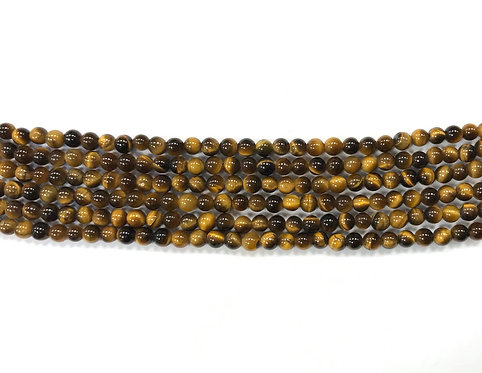4mm Tigers Eye Beads
