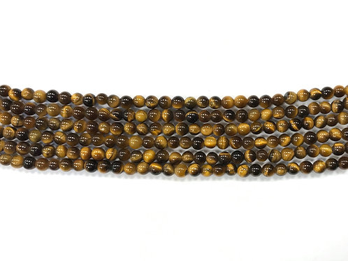4mm Tigers Eye Beads