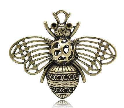 Large Bee - Bronze