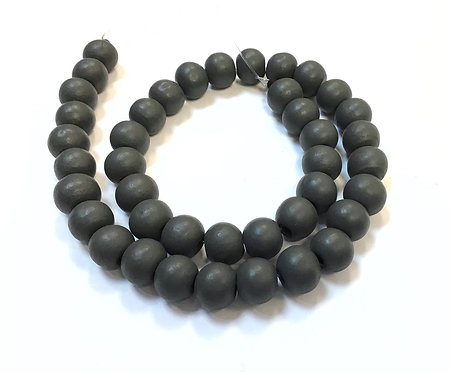 wooden beads 8mm grey