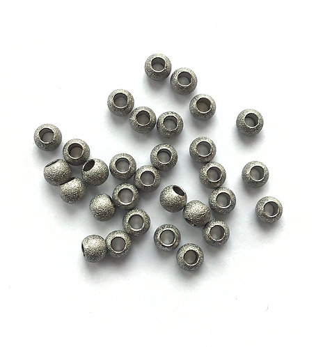 Stainless Steel Stardust Beads - 4x3mm