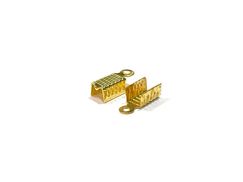 gold plated crimp cord ends