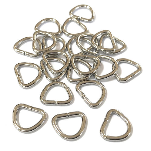 stainless steel D rings 9 x 11mm