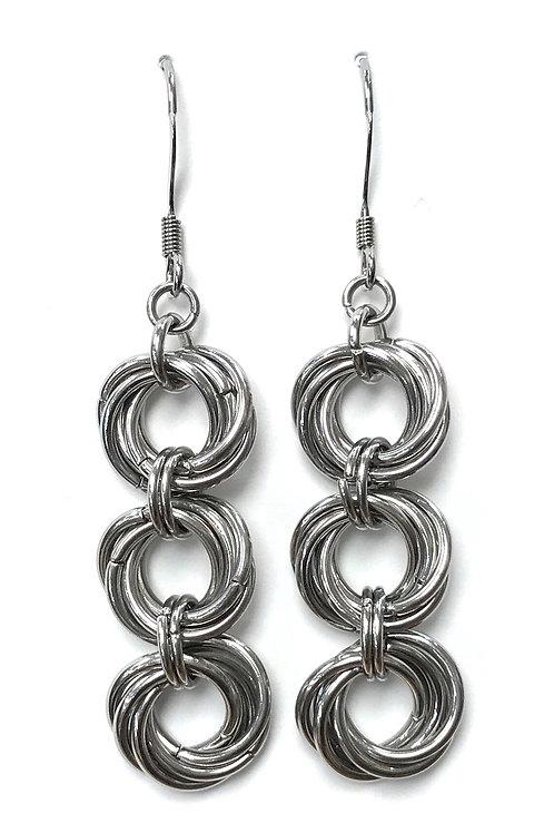 handmade chain maille earrings