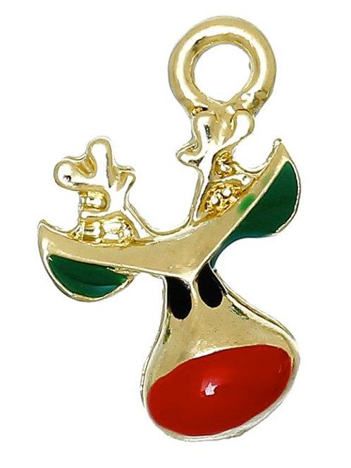 Red Nosed Reindeer - Light Gold