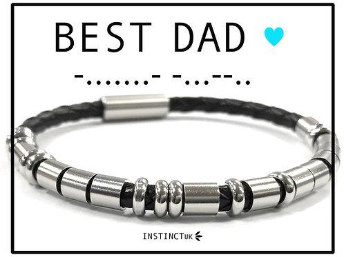 Best Dad - Morse Code Bracalet