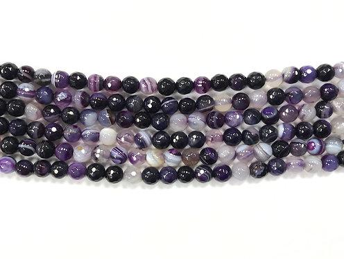 6mm Agate Beads - Purple
