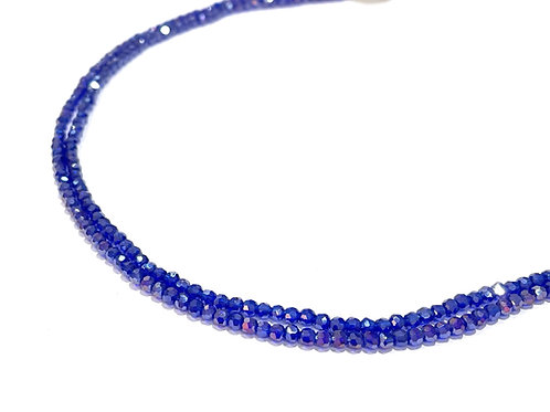 crystal glass round blue ab beads 2.5mm