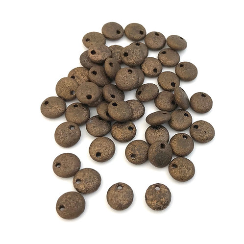 brown lentil beads
