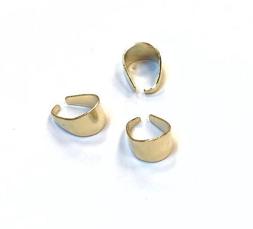 Light Gold Pinch Bails - 11 x 7mm