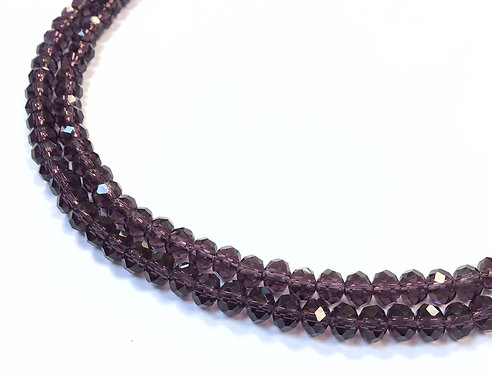 purple crystal grass beads 6mm