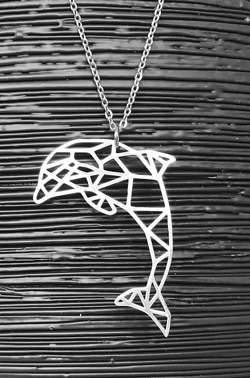 Geometric Dolphin Necklace