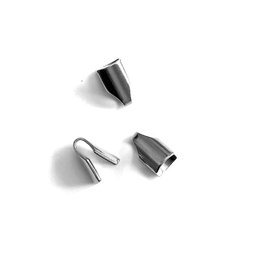 Stainless Steel Crimp Cord Ends - Fits 4 x 2mm