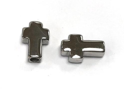 steel cross bead 14x10x4mm